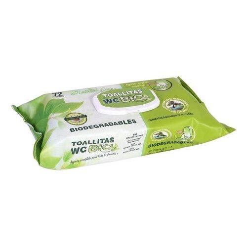 Biologiskt nedbrytbara våtservetter Wc (72 uds)