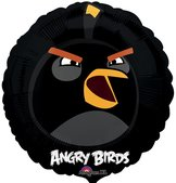 "18"" Heliumfylld Angry Bird Black 45 cm"