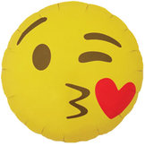 """18"""" Emoji Kiss 46 cm"""