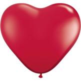 """28cm Röd - Rubinröd Hjärtformad ballong - 11"""""""
