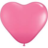 """28cm Rosa - Rose  Hjärtformad ballong - 11"""""""