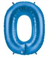 Folieballong Siffra - 0 - Blå