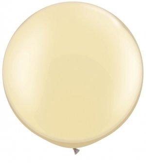 "75cm pärlemo-elfenbensvit ballong - 30"""
