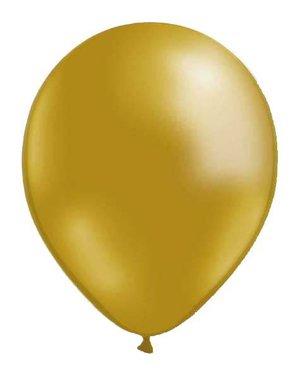 """30cm Guld - Guld Metallic ballong - 12""""  - 10-pack"""