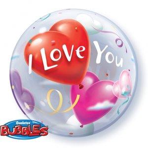 "22"" I Love You Heart Balloons bubble balloon"