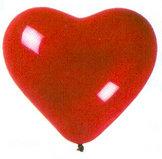 29cm Röd - Röd Hjärtformad ballong Standard - 10-pack