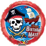 "18"" Heliumfylld Birthday Mate Pirate Ship"
