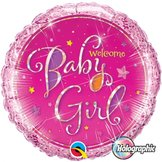 "18"" Welcome Baby Girl Stars"