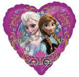"""18"""" Heliumfylld Frost Anna & Elsa 45 cm"""