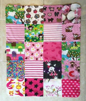 Babyfilt rosa/cerise, 59x73 cm