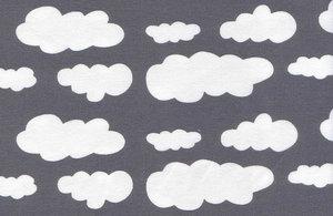 Grå jersey med vita moln