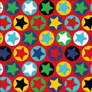 Röd jersey med stjärnor i ringar