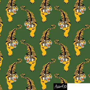 Grön jersey med tigrar - EKOLOGISKT