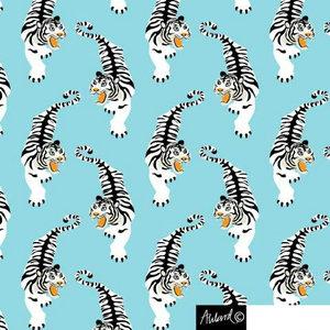 Isblå jersey med tigrar - EKOLOGISKT