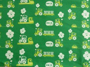 Grön jersey med traktorer och släp