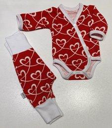 BODY + BYXA HEARTS röd, 44/46