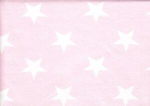 Ljusrosa jersey med vita stjärnor