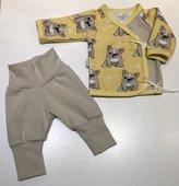 Omlott-tröja Bulldog gul + Yogapants, 50