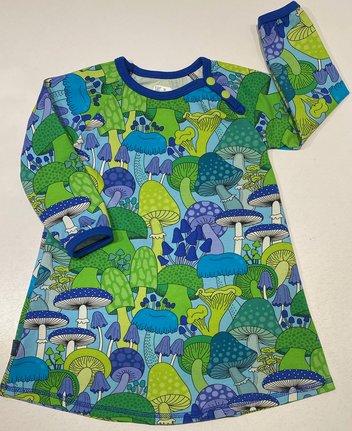 Klänning Amanita green/blue, 92