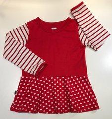Volang-tröja Ränder & Prickar röd, 116