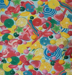Godis i glada färger