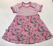 Body-klänning Ladybug pink, 68