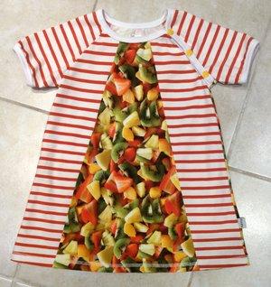 Klänning Fruktsallad, stl 98