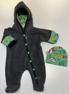 Fleece-overall Koksgrå, 44/46