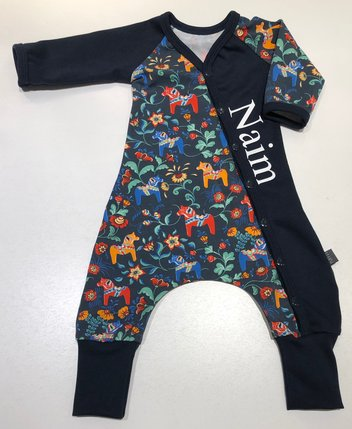 BAGGY-DRESS LEKSAND mörkblå, 56