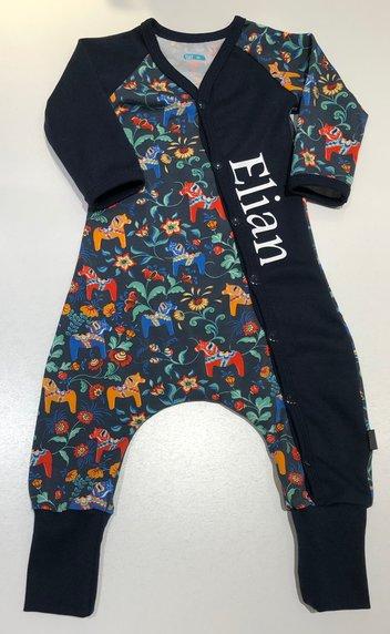 BAGGY-DRESS LEKSAND mörkblå, 68