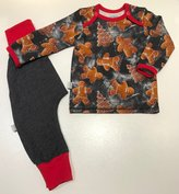 Tröja Pepparkakor + Baggypants svart jeanstrikå, 74