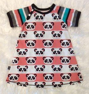 Klänning Panda-ränder, stl 92