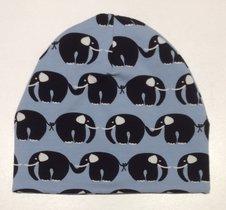 Mössa Elefanter ljusblå, 46/48