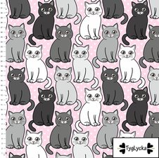 Cute Cats pink - Ekologiskt