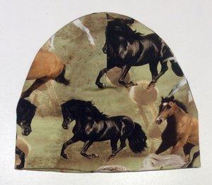 Mössa Hästar grön, 50/52