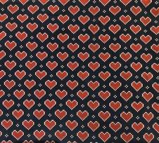Stickade hjärtan, marinblå