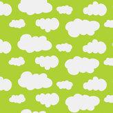 Limegrön jersey med vita moln