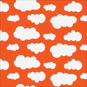 Orange jersey med vita moln