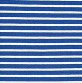 Klarblå/vit randig jersey