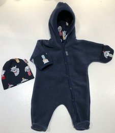Fleece-overall mörkblå, 44/46