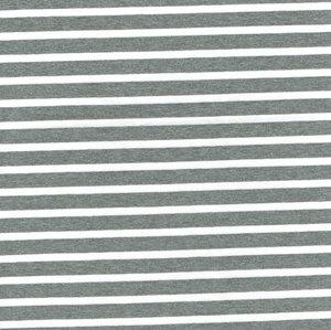 Grå/vit randig jersey - EKOLOGISK