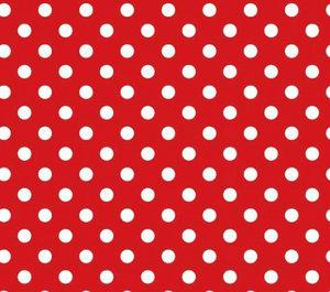 Röd jersey med vita prickar