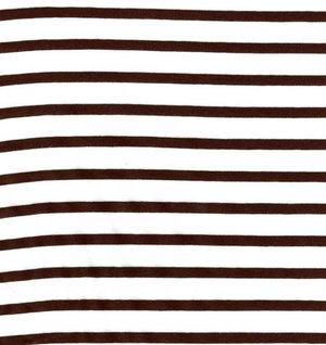 Vit/brun randig jersey