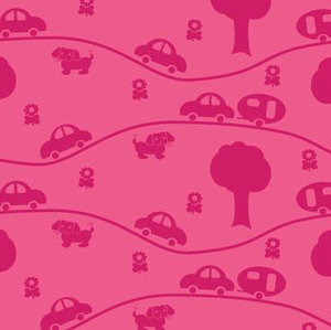 Husvagn rosa/cerise