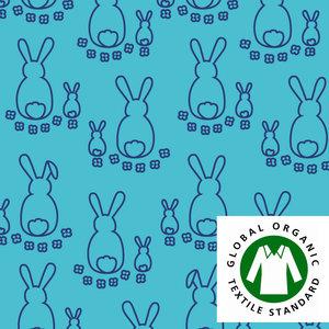 Kaniner ljusturkos/kobolt EKOLOGISKT