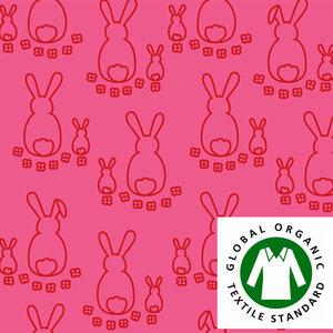 Kaniner rosa/röd - EKOLOGISKT