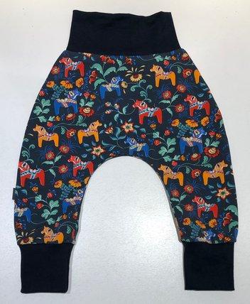 BAGGY-PANTS LEKSAND mini mörkblå, 74/80