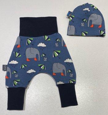 Byxa + Mössa Elefant i gummistövlar, 40/42