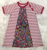 Klänning Pärlor basicfärger, stl 104