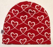 Mössa Hearts röd, 54/56